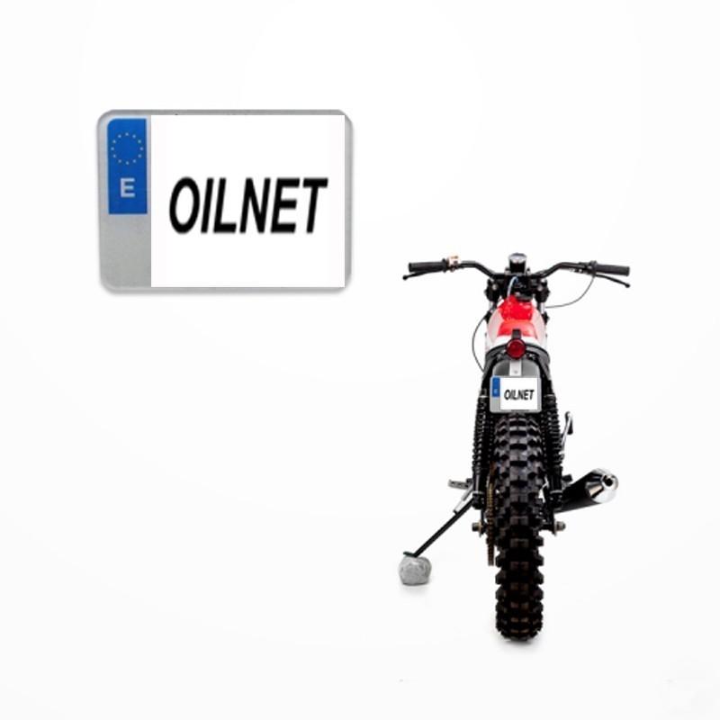 Placa matrícula acrilica moto enduro 132x96